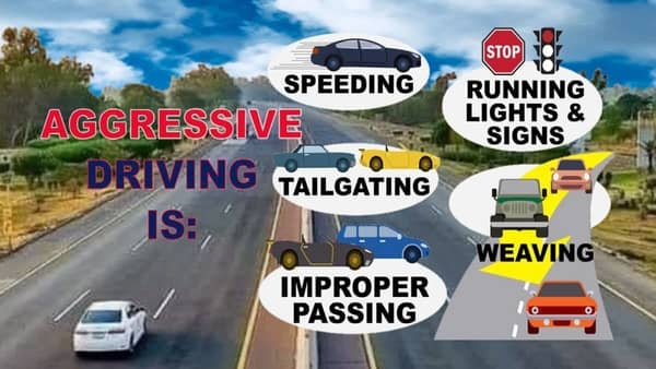 Read more about the article Aggressive driving can be defined as operating a vehicle in a manner that is likely to